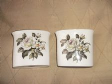 PAIR OF ELEGANT GILDED ROYAL WORCESTER SMALL POSY VASES BERNINA EX COND #2